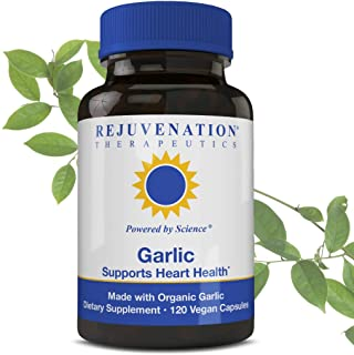Rejuvenation Therapeutics - Organic Garlic, Supports Heart Health (500mg, 120 Vegan Capsules)