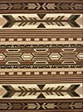 United Weavers of America Legends Collection Broken Arrow Lodge Rug – 5ft, 3in. x 7ft. 2in, Multicolor, Jute Backing Rug with Southwestern Pattern, Black (809014215598)