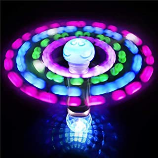 Kicko 7.5 Inch Light-up Wand - LED Moon Jelly Spinner Toy - Perfect for Rave Party, Carnival Prizes, Birthday, Orbiter Sticks, Light Toys, Bash, Party Favor, and Supplies