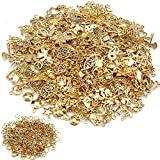 600Pcs Wholesale Bulk Lots Jewelry Making Charms Mixed Metal Charms Pendants DIY for Bracelet Necklace Jewelry Making and Crafting(Antique Gold)