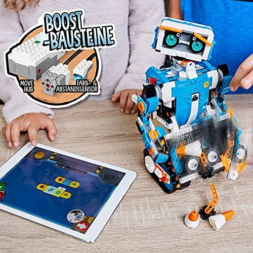 LEGO 17101 Boost Programmierbares Roboticset, 5-in-1 App-gesteuertes Baumodell mit einem programmierbaren, interkativen Roboter-Spielzeug und Bluetooth Hub, Programmierset für Kinder - 5