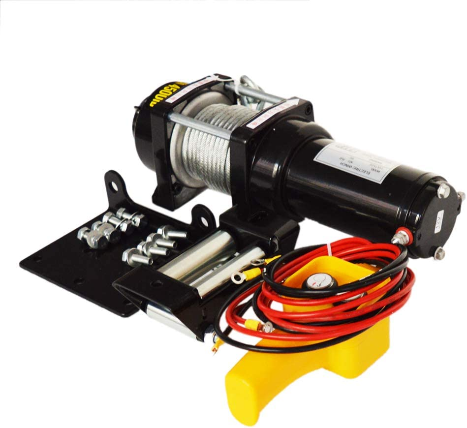 INTBUYING Cheap Electric Winch 3000 4500LBS NEW C 12V Steel Recovery