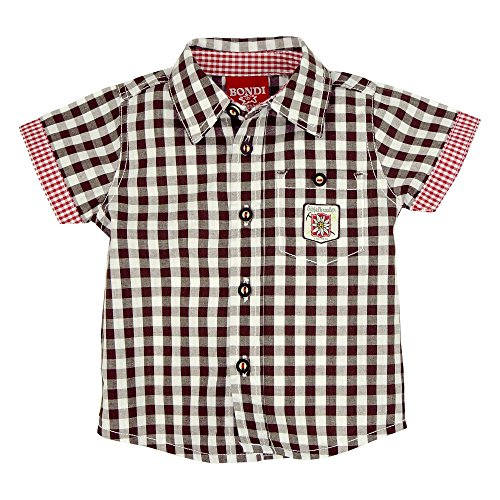 BONDI BONDI Karohemd ´Gipfelkraxler´, Karo Braun/Weiss 62 Tracht Baby Jungs Artikel-Nr.91006