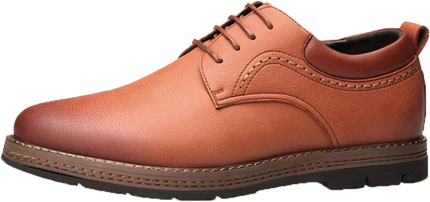 Men British Leather shoes Fashion Lace Tooling shoes Casual shoes shoes