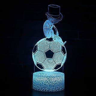 Décor à la Maison 3D éclairage LED Chambre Football modélisation Tactile dégradé coloré Dessin animé Humeur noël veilleuse...
