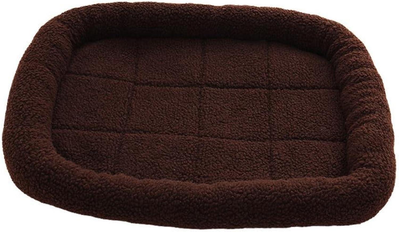 BiuTeFang Pet Bolster Dog Bed Comfort Pet Mat Summer Air conditioning dog mat resistant lamb fleece Pet Nest Mat