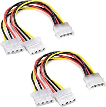 Computer Molex 4Pin IDE Power Supply Y Splitter Cable 2 Female to 1 Male Internal Power Extension Cable