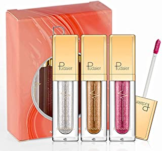 Glitter Liquid Eyeshadow -3 Colors Long Lasting Waterproof Sparkling Eyeliner Eye Shadow Set for Women Girl (3 Color-SGY)