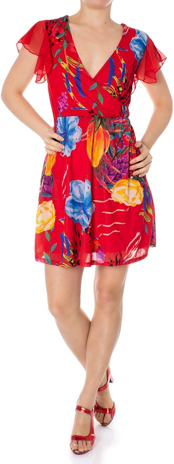 Desigual Women's 19SWVK97RED Red Polyester Dress