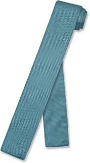 turquoise knitted tie