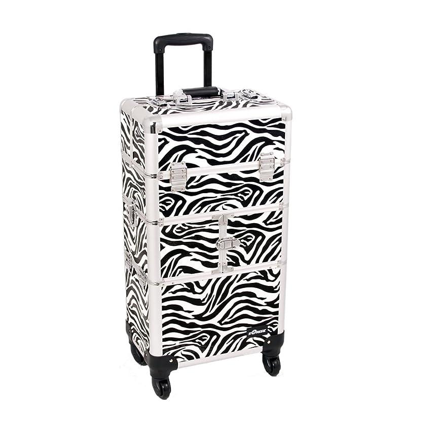 Craft Accents I3464 Zebra Trolley Craft/Quilting Storage Case