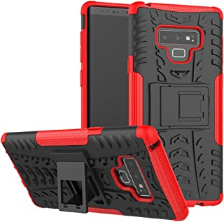 Galaxy Note 9 Case, Viodolge [Shockproof] Rugged Dual Layer Protective Phone Case Cover with Kickstand for Samsung Galaxy Note9 (red)
