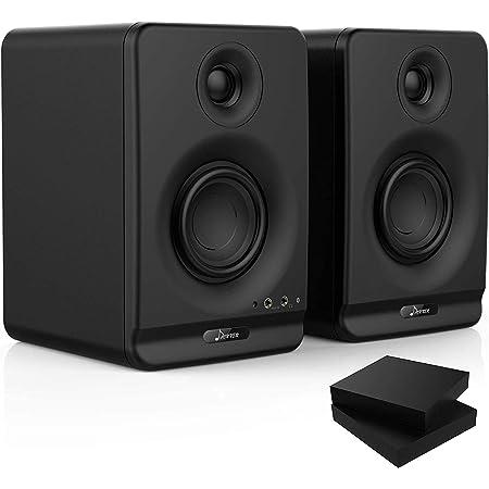 Donner モニタースピーカー アクティブスピーカー パワードスピーカー ワイヤレス Bluetooth5.0 アクティブスタジオ 高解像度 原音を忠実 BQB認証 ブラック アンプ内蔵スピーカー (black, 3インチ)