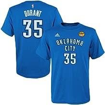 adidas Kevin Durant Oklahoma City Thunder 2012 NBA Finals Jersey Name and Number T-Shirt
