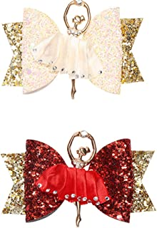 "3"" Girl Hair Clips Glitter Bow -Kids Fashion Hairpins,Sequin Bow Hair Clip Handmade,Toddler Clips"