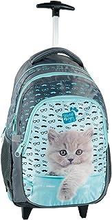 Studio Pets Gatto Blu zaino trolley scuola, ragazza, bambina