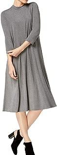Women's Tencel Blend Mock-Neck A-Line Dress
