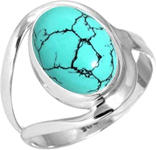 MOP Turquoise  Ring Sterling Silver Ring Geometrical Ring Crossing Ring Turquoise Gemstone Ring Framed Ring White MOP Ring