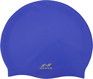 Nivia Classic Silicone Adult Swimming Cap (Royal Blue)