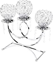 FITYLE Home Wedding Decor Candle Holder Candelabra Mood Light Tealight Candle Bowl 3-Cups Holder - Silver, as described