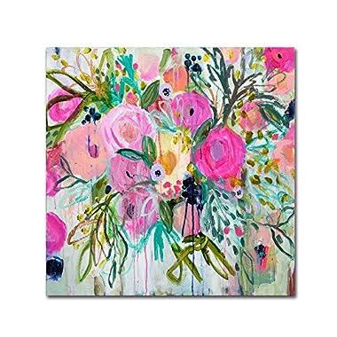 Rose Burst by Carrie Schmitt, 24x24-Inch Canvas Wall Art