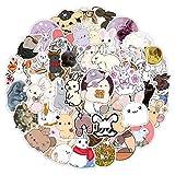 CHUDU Etiqueta engomada del Conejito de Dibujos Animados Lindo Animal de Vidrio Etiqueta de la Pared Etiqueta de la Maleta Ins Chica 50 Hojas