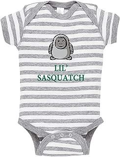 Cute Rascals Lil' Sasquatch Baby Kid Stripe Fine Jersey Bodysuit Grey 6 Months