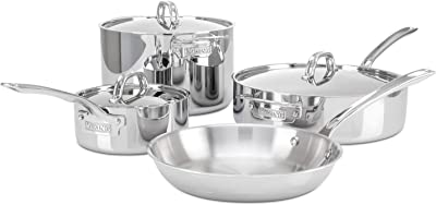 Viking 3-Ply Stainless Steel Cookware Set, 7 Piece