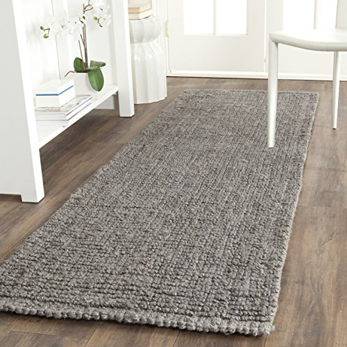 Safavieh Natural Fiber Collection NF447G Hand-Woven 0.5-inch Thick Chunky Textured Jute Runner, 2' 6