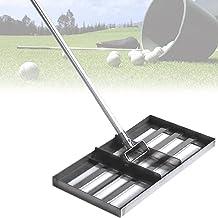 Gazonnivelleringshark met lange steel, grondnivelleringsgereedschap roestvrij staal voor tuintuin en golfgazon