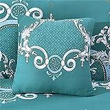 Funda De Almohada De Textiles para El Hogar Funda De Cojín De Impresión Cuadrada para La Decoración De La Sala De Estar del Dormitorio En Casa 8Pcs 18x18Inch(45x45cm)