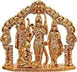 Nobility Ram Darbar/Lord Rama,Sita, Laxman and Hanuman Idol God Statue Showpiece - Size: 3 Inch
