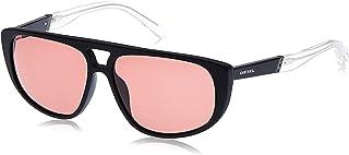Diesel Men's Sunglasses DL030002S59 - Matte Black/Bordeaux - Plastic