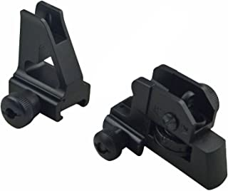 MUDCAT Outdoors Iron Sights Match Grade Model 4/15 Rear & High Profile Front Sight Gas Block, DPMS Oracle