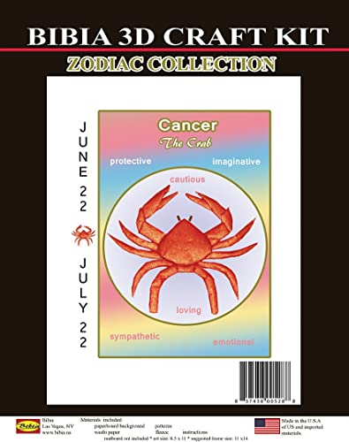 BIBIA 3D CRAFT KIT Zodiac Collection, Cancer1