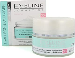 Eveline Hyaluron and Collagen Anti Wrinkle and Moisturising Day and Night Cream 30+, 50 ml