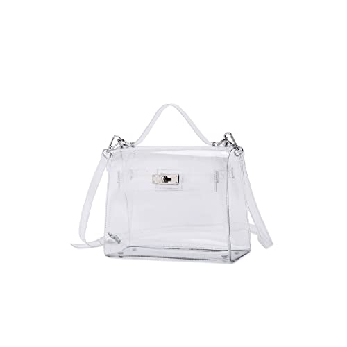 0943597a6da Lam Gallery Womens Fashion Clear Purse Bag Plastic PVC Transparent Handbag  for Stadium Concert Work