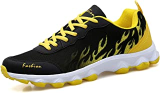 Autumn And Winter Breathable Mesh Couple Sports Shoes, Unisex Shoes Fashion Running Shoes for Gym Sports Fitness,Yellow,36