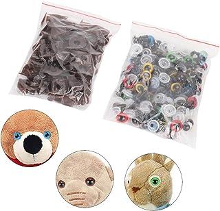 Yeux de sécurité et nez de sécurité Mélangez des yeux de sécurité en plastique de couleur avec des accessoires de rondelle...