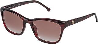 Loewe - SLW965M550761 Gafas de sol, Shiny Transparente Honey, 55 para Mujer