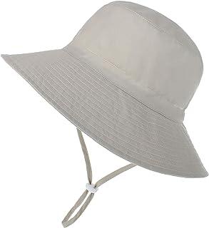 Baby Sun Hat Toddler Summer UPF 50+ Sun Protection Baby Boy Hats Beach Hats Wide Brim Bucket for Baby Girl Adjustable Kid Cap
