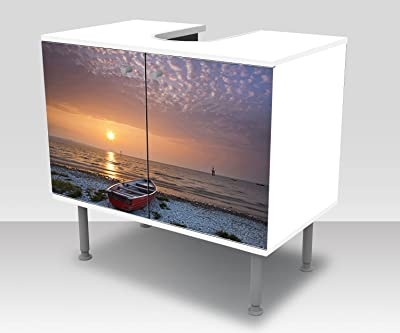 wandmotiv24 Mueble de baño Pared Negra Pegado Frontal y Lateral Lavabo, Mueble Lavabo M0788: Amazon.es: Hogar