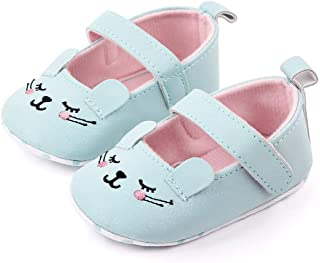 XuBa Girl 0-1-Year-Old Toddlers Cartoon Princess Artificial PU Shoes Baby Shoes