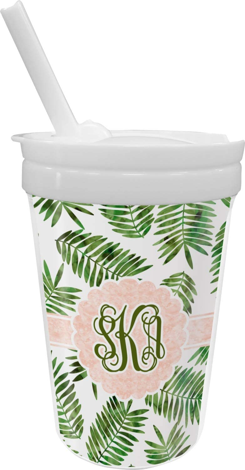 Tropical Leaves Sippy Finally resale start Cup Personalized New life Straw with