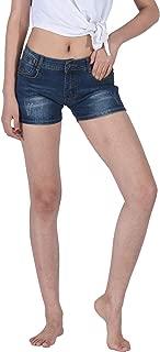 PHOENISING Women' Short Shorts Stretch Jeans Casual Denim Shorts