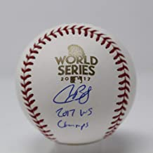 Alex Bregman Houston Astros Signed Autograph Official MLB World Series Baseball WS CHAMPS INSCRIBED Steiner Sports Certified