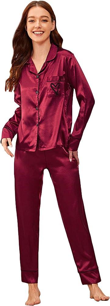 Soly hux , pigiama da donna, in raso, a maniche lunghe 10191031953-15-9-S
