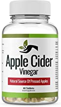 Apple Cider Vinegar – 1000 mg- Daily Dosage Made in UK Pure Vegan Supplement Max Strength Tablets – Keto Diet Tablets for Women and Men Estimated Price : £ 8,97