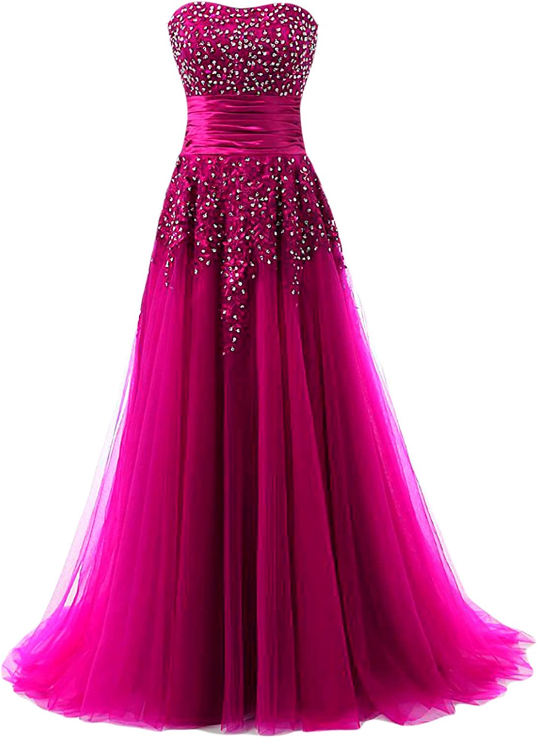 DINGZAN Wedding Reception Dresses Applique Prom Gowns Floor Length