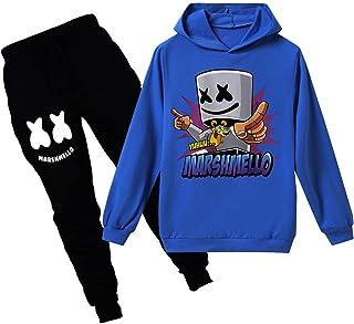Silver Basic Niño con Capucha Ocio DJ cómodo Traje suéter Conjuntos de Pantalones